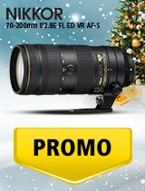 In perioada 5 decembrie 2018 - 8 ianuarie 2019 obiectivul NIKKOR 70-200mm f/2.8E FL ED VR AF-S se afla in oferta la partenerii oficiali Nikon din Romania. www.nikonisti.ro