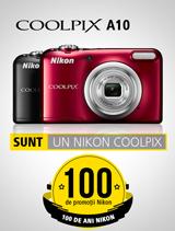 In perioada 12 iunie - 20 august 2017 aparatele foto Nikon COOLPIX A10 (rosu, negru) se afla in promotie la partenerii oficiali Nikon din Romania.