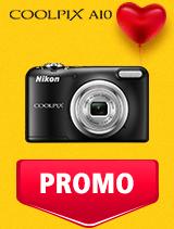 In perioada 5 - 25 februarie 2019 aparatul foto Nikon COOLPIX A10 se afla in oferta la partenerii oficiali Nikon din Romania. www.nikonisti.ro