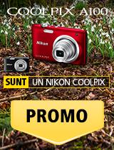 SUNT NIKON COOLPIX A100 IN PROMOTIE
