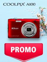 In perioada 7 mai - 3 iunie 2019 aparatul foto Nikon COOLPIX A100 se afla in oferta la partenerii oficiali Nikon din Romania. www.nikonisti.ro
