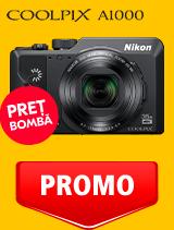 In perioada 12 mai - 2 iunie 2020 aparatul foto Nikon COOLPIX A1000 se afla in oferta la partenerii oficiali Nikon din Romania. www.nikonisti.ro