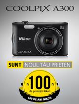 In perioada 12 iunie - 20 august 2017 aparatul foto Nikon COOLPIX A300 se afla in promotie la partenerii oficiali Nikon din Romania.