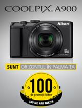 In perioada 12 iunie - 20 august 2017 aparatul foto Nikon COOLPIX A900 se afla in promotie la partenerii oficiali Nikon din Romania.