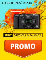 In perioada 3 - 30 septembrie 2018 aparatul foto Nikon COOLPIX A900 Black se afla in oferta la partenerii oficiali Nikon din Romania. www.nikonisti.ro