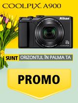 In perioada 16 aprilie 2018- 20 mai 2018 aparatul foto Nikon COOLPIX A900 black se afla in oferta la partenerii oficiali Nikon din Romania. www.nikonisti.ro