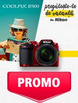In perioada 27 mai - 30 iunie 2019 aparatul foto Nikon COOLPIX B500 se afla in oferta la partenerii oficiali Nikon din Romania. www.nikonisti.ro