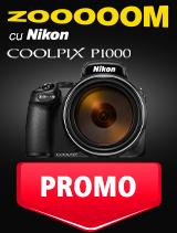 SUNT NIKON COOLPIX P1000 IN PROMOTIE
