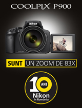 In perioada 4-30 septembrie 2017, aparatul foto ultrazoom Nikon COOLPIX P900 se afla in promotie la partenerii oficiali Nikon din Romania