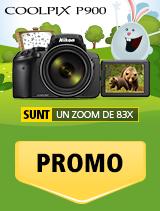 In perioada 19 martie 2018 - 15 aprilie 2018, aparatul foto Nikon COOLPIX P900 se afla in promotie la partenerii oficiali Nikon din Romania.