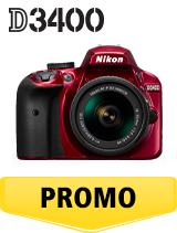 In perioada 26 iunie 2018 - 5 august 2018 aparatul foto DSLR Nikon D3400 Kit AF-P 18-55mm VR (red)  se afla in oferta la partenerii oficiali Nikon din Romania. www.nikonisti.ro