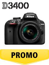 In perioada 26 iunie 2018 - 5 august 2018 aparatul foto DSLR Nikon D3400 Kit AF-P 18-55mm VR (black)  se afla in oferta la partenerii oficiali Nikon din Romania. www.nikonisti.ro