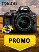 In perioada 16 octombrie - 15 noiembrie 2018 aparatul foto DSLR Nikon D3400 Kit AF-P 18-55mm VR se afla in oferta la partenerii oficiali Nikon din Romania. www.nikonisti.ro