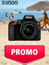 In perioada 1 - 31 iulie 2019 aparatul DSLR Nikon D3500 Kit AF-P 18-55mm VR se afla in oferta la partenerii oficiali Nikon din Romania. www.nikonisti.ro