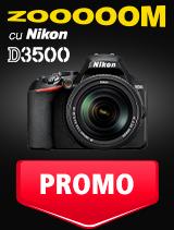 SUNT NIKON D3500 IN PROMOTIE