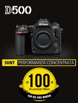In perioada 24 iulie - 20 august 2017 aparatul foto DSLR DX Nikon D500 Body se afla in promotie la partenerii oficial Nikon din Romania