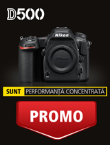 In perioada 6-31 martie 2017 aparatul foto DSLR Nikon D500 body se afla in promotie la partenerii oficiali Nikon din Romania.