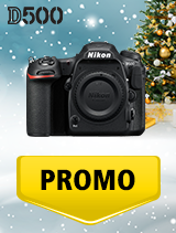 In perioada 5 decembrie 2018 - 8 ianuarie 2019 aparatul DSLR Nikon D500 body se afla in oferta la partenerii oficiali Nikon din Romania. www.nikonisti.ro