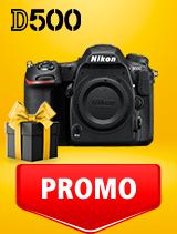 In perioada 25 februarie - 9 martie 2020 aparatul DSLR Nikon D500 body se afla in oferta la partenerii oficiali Nikon din Romania. www.nikonisti.ro