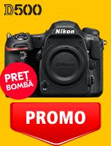 In perioada 12 mai - 2 iunie 2020 aparatul DSLR Nikon D500 body se afla in oferta la partenerii oficiali Nikon din Romania. www.nikonisti.ro