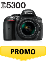 In perioada 26 iunie 2018- 5 august 2018 aparatul foto DSLR Nikon D5300 Kit AF-P 18-55mm VR (black)  se afla in oferta la partenerii oficiali Nikon din Romania. www.nikonisti.ro