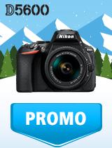 In perioada 9 ianuarie - 4 februarie 2019 aparatul DSLR Nikon D5600 Kit AF-P 18-55mm VR se afla in oferta la partenerii oficiali Nikon din Romania. www.nikonisti.ro
