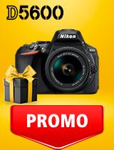 In perioada 25 februarie - 9 martie 2020 aparatul DSLR Nikon D5600 Kit AF-P 18-55mm VR se afla in oferta la partenerii oficiali Nikon din Romania. www.nikonisti.ro