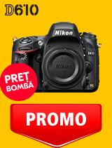 In perioada 10 aprilie - 11 mai 2020 aparatul DSLR Nikon D610 body se afla in oferta la partenerii oficiali Nikon din Romania. www.nikonisti.ro