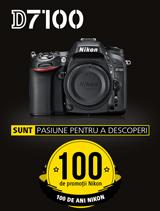 SUNT NIKON D7100 IN PROMOTIE In perioada 12 iunie - 20 august 2017 aparatul foto DSLR Nikon D7100 Body este in promotie la partenerii oficiali Nikon din Romania.  www.nikonisti.ro