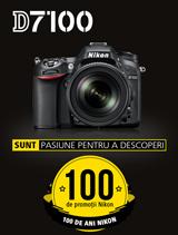 In perioada 26 iunie - 20 august 2017 aparatul foto DSLR NIKON D7100 KIT 18-105 VR se afla in promotie la partenerii oficiali Nikon din Romania
