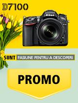 In perioada 16 aprilie 2018- 20 mai 2018 aparatul foto DSLR Nikon D7100 Kit 18-105mm f/3.5-5.6G ED VR AF-S DX se afla in oferta la partenerii oficiali Nikon din Romania. www.nikonisti.ro