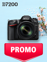 In perioada 7 mai - 3 iunie 2019 aparatul DSLR Nikon D7200 Kit  AF-S 18-140mm VR se afla in oferta la partenerii oficiali Nikon din Romania. www.nikonisti.ro