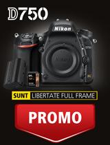 In perioada 27 martie - 23 aprilie 2017 aparatul foto DSLR Nikon D750 Body este in promotie la partenerii oficiali Nikon din Romania. In plus, primesti CADOU un acumulator EN-EL15 si un card Lexar 64GB SDXC 95MB/s.