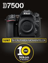 In perioada 4-30 septembrie 2017, aparatul foto DSLR DX Nikon D7500 Body se afla in promotie la partenerii oficiali Nikon din Romania
