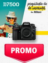 In perioada 27 mai - 30 iunie 2019 aparatul foto DSLR Nikon  D7500 body se afla in oferta la partenerii oficiali Nikon din Romania. www.nikonisti.ro