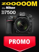 SUNT NIKON D7500 IN PROMOTIE