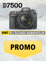 In perioada 15 ianuarie 2017 - 18 februarie 2018, aparatul foto Nikon D7500 kit 18-140mm VR (black)  se afla in promotie la partenerii oficiali Nikon din Romania. www.nikonisti.ro