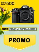 In perioada 16 aprilie 2018- 20 mai 2018 aparatul foto DSLR Nikon  D7500 body se afla in oferta la partenerii oficiali Nikon din Romania. www.nikonisti.ro