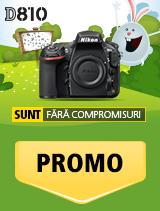 In perioada 19 martie 2018 - 15 aprilie 2018, aparatul foto Nikon D810 body se afla in promotie la partenerii oficiali Nikon din Romania.