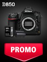 In perioada 25 martie - 6 mai 2019 aparatul DSLR Nikon D850 body se afla in oferta la partenerii oficiali Nikon din Romania. www.nikonisti.ro