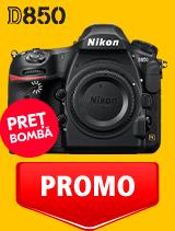 In perioada 12 mai - 2 iunie 2020 aparatul foto DSLR Nikon D850 body se afla in oferta la partenerii oficiali Nikon din Romania. www.nikonisti.ro