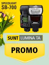In perioada 16 aprilie 2018- 20 mai 2018 blitul foto Nikon SPEEDLIGHT SB-700 se afla in oferta la partenerii oficiali Nikon din Romania. www.nikonisti.ro