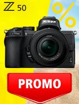 In perioada 3 iunie - 6 iulie 2020 aparatul Mirrorless Nikon Z50 Kit 16-50mm DX VR se afla in oferta la partenerii oficiali Nikon din Romania. www.nikonisti.ro