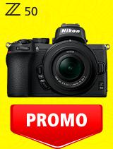 In perioada 7 iulie - 3 august 2020 aparatul Mirrorless Nikon Z50 Kit 16-50mm DX VR se afla in oferta la partenerii oficiali Nikon din Romania. www.nikonisti.ro