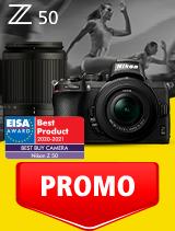In perioada 1 - 30 septembrie 2020 aparatul Mirrorless Nikon Z50 Kit 16-50mm VR + 50-250mm VR se afla in oferta la partenerii oficiali Nikon din Romania. www.nikonisti.ro