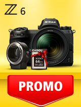 In perioada 10 martie - 21 aprilie 2019 aparatul Mirrorless Nikon Z6 Kit 24-70mm f/4 S+ FTZ se afla in oferta la partenerii oficiali Nikon din Romania. www.nikonisti.ro