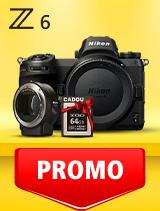 In perioada 10 martie - 21 aprilie 2020 aparatul foto mirrorless Nikon Z6 body + FTZ se afla in oferta la partenerii oficiali Nikon din Romania. www.nikonisti.ro
