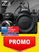 In perioada 1 - 30 septembrie 2020 aparatul foto mirrorless Nikon Z6 body + FTZ se afla in oferta la partenerii oficiali Nikon din Romania. www.nikonisti.ro